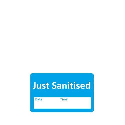 Just Sanitised Blue Label 40x25mm