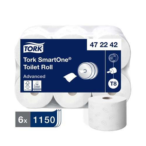 Tork SmartOne® 2 Ply Toilet Roll 1150 sheets White