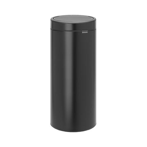 Brabantia Round Metal  Touch/Push Bin 30Ltr Matt Black