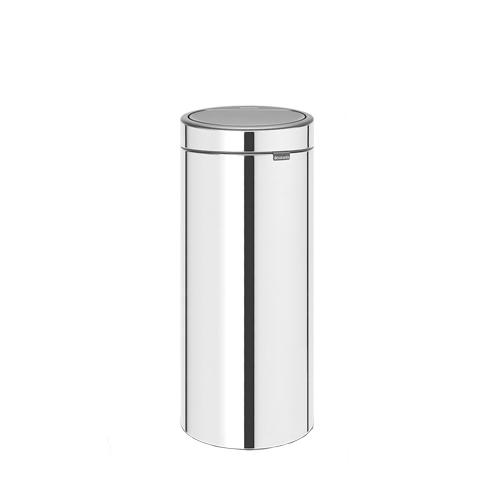 Brabantia Brilliant Steel Touch/Push Bin 30Ltr Silver