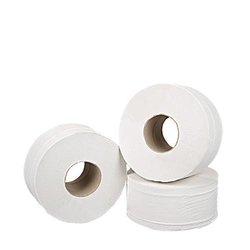Alliance Mini Jumbo 2 Ply Toilet Roll 62mm Core White