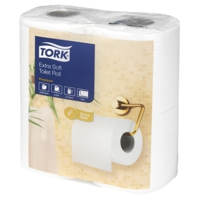 Tork Multi Pack Extra Soft 2 Ply Luxury Toilet Roll 200 Sheets White