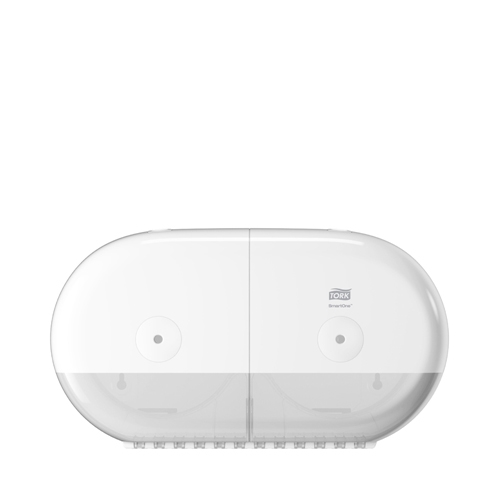Tork SmartOne® Twin Mini Toilet Roll Dispenser White