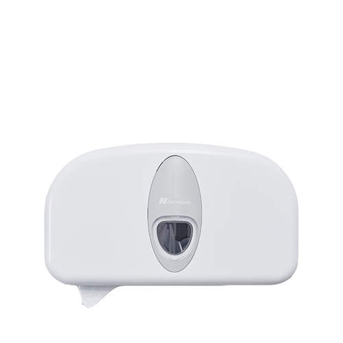 Double Coreless Toilet Roll Dispenser White