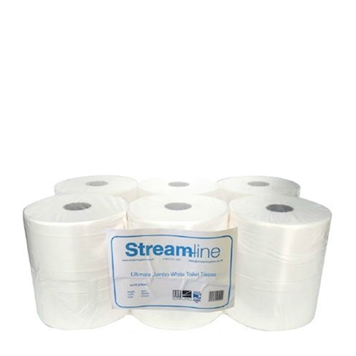 Ultimate Jumbo  2 Ply Toilet Roll Pure Pulp White