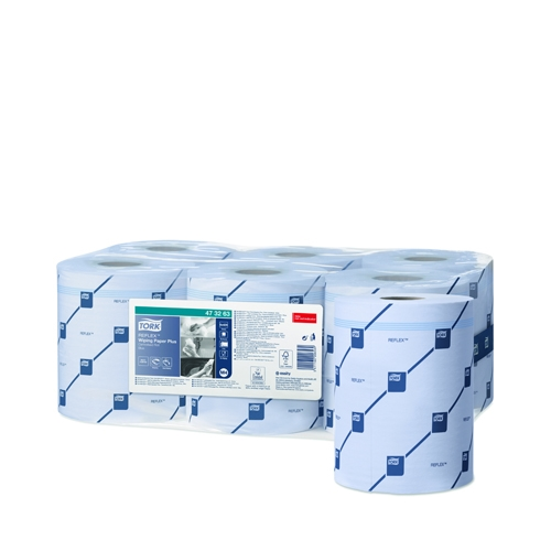 Tork Multi Pack Wiping Paper Plus 2 Ply Reflex  Centrefeed 150.2m Blue