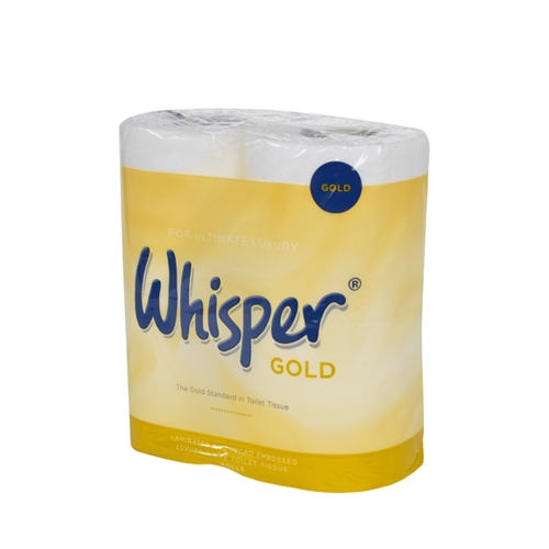 Whisper Multi Pack Gold 3 Ply Toilet Roll 170 Sheets White