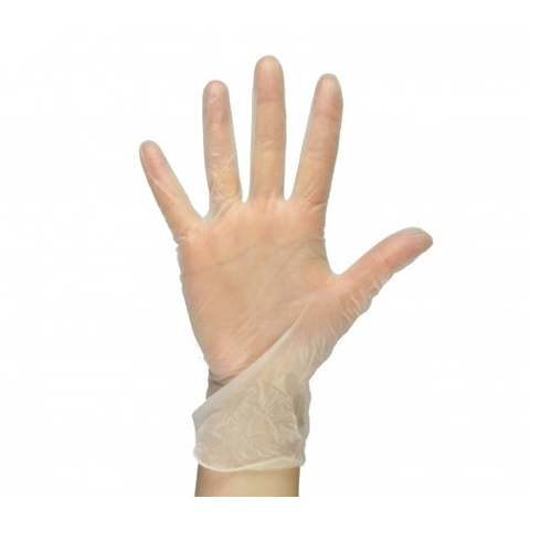 Powder Free  Vinyl Gloves Extra Large Clear