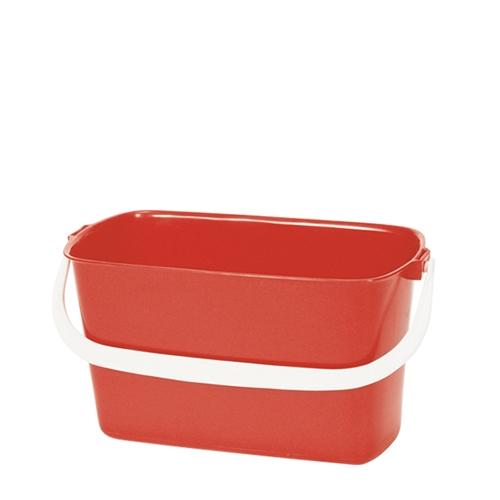 Oblong  Bucket 9Ltr Red