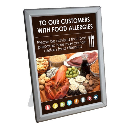 Food Allergen  Counter Top Notice in A4 Frame