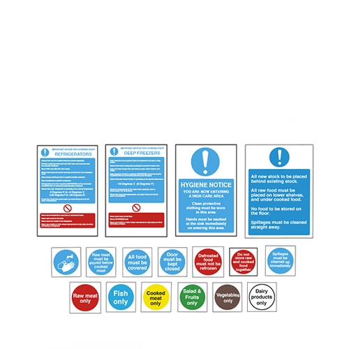 Food Storage  Signs Pack Pack of 17 Mixed