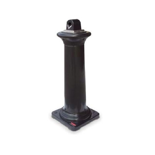 Groundskeeper Tuscan Floor Standing  Ashtray Black