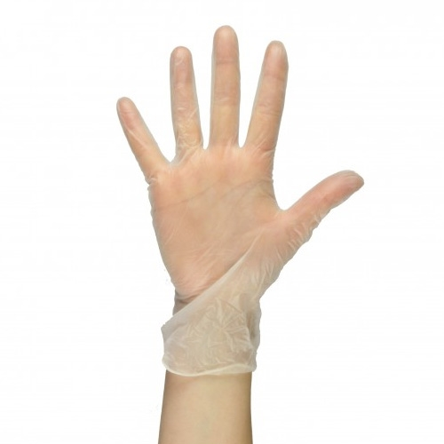 Powdered Vinyl Gloves Extra Large Clear
