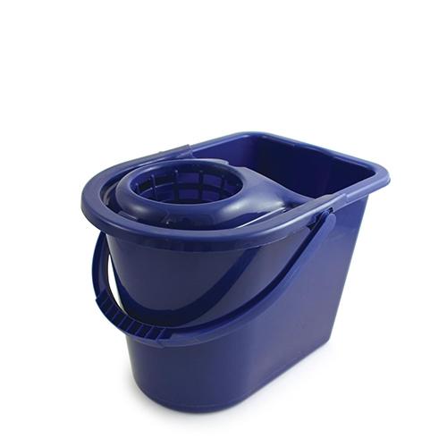 Hygiene Bucket & Wringer 15Ltr Blue