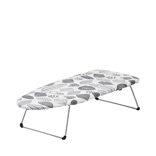 Table Top Ironing Board 74x30cm Grey & White