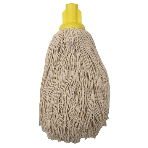 Socket Push On Twine Mop Head Yellow