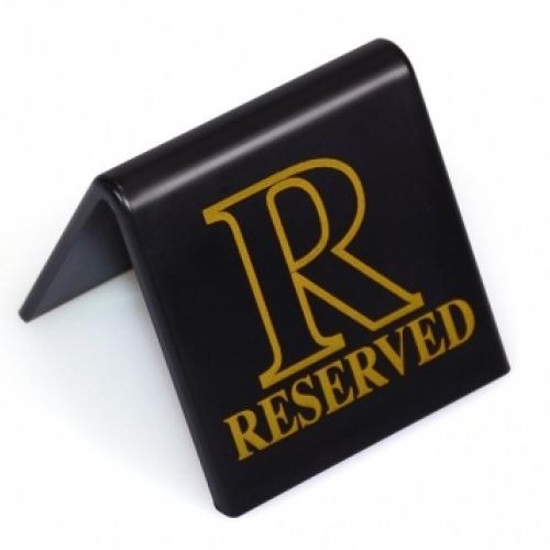 Mileta Reserved  Tent Sign Gold/Black