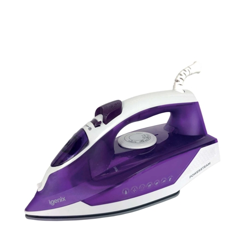 Igenix  Steam Iron 2000W White/Purple