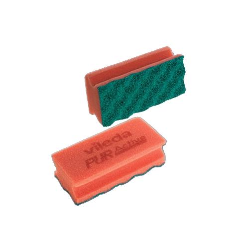 Vileda Multi Pack Pur Active Non-Abrasive Scourer Red