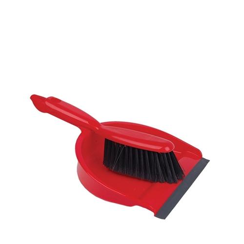 Soft Dustpan & Brush Red