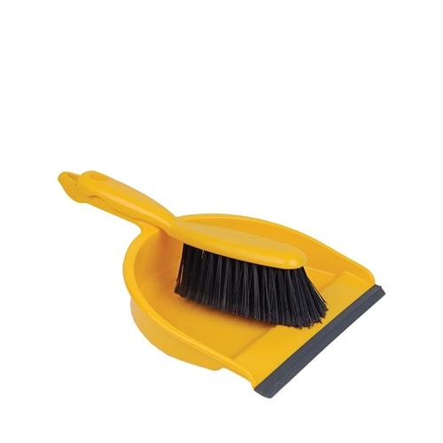 Soft Dustpan & Brush Yellow