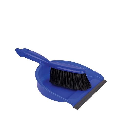 Stiff Dustpan & Brush 22 x 32 x 10cm Blue