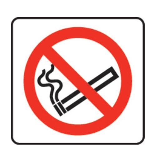 Mileta No Smoking Image  Self Adhesive Sign 100 x 100mm Printed