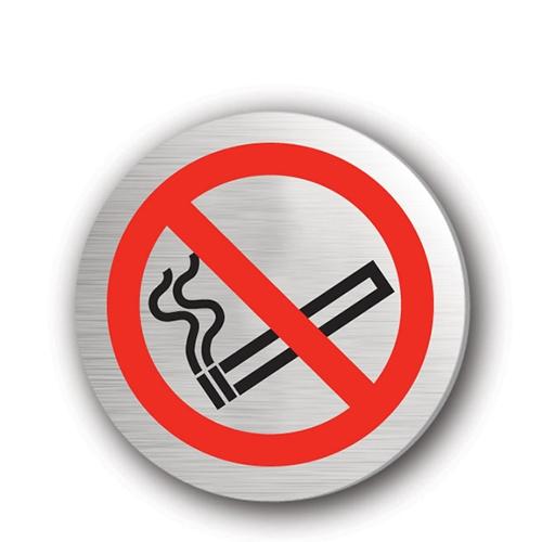 Mileta No Smoking Symbol Rigid Disc 75mm Silver