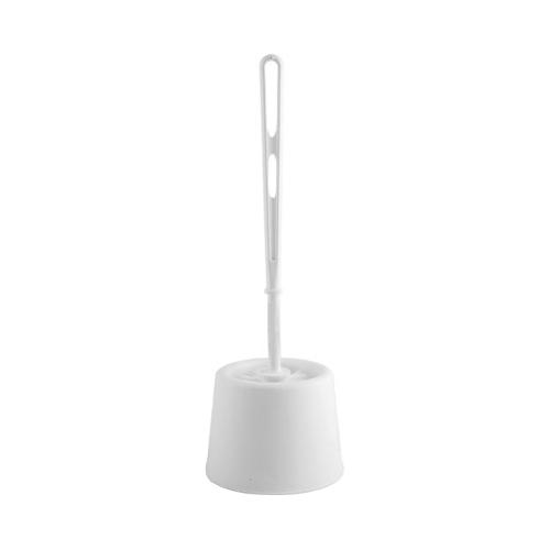 Plastic Toilet Brush Set White