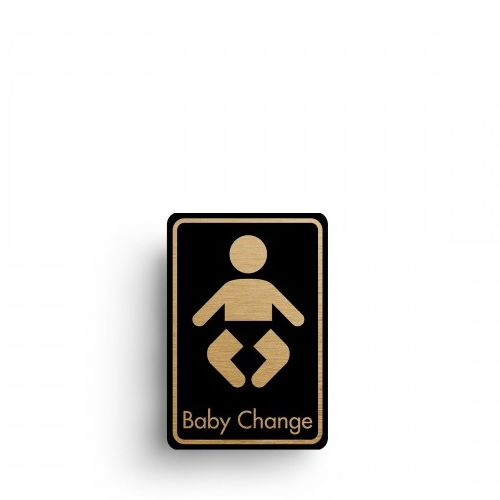 Mileta Rigid S/A Baby Changing Symbol 128x83mm Black/Gold