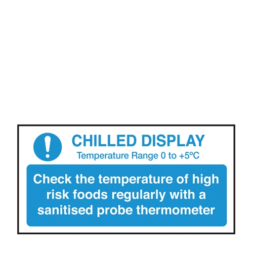 Chilled Display Self Adhesive Sign 100 x 200mm Blue