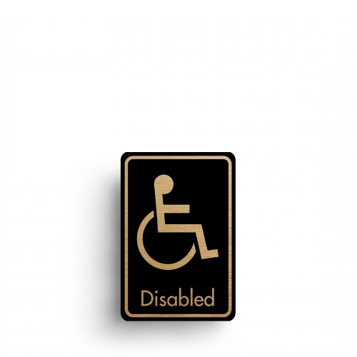 Mileta Rigid S/A Disabled Toilet Symbol 128x83mm Black/Gold