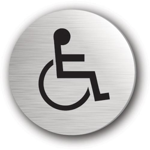 Mileta Disabled Symbol Rigid Disc 75mm Silver