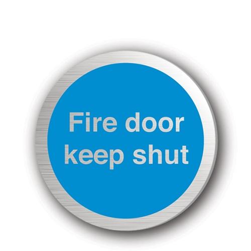 Mileta Fire Door Keep Shut  Rigid Disc 75mm Silver
