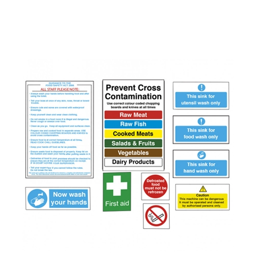 Junior Catering Health & Safety Pack Pack of 10 Printed