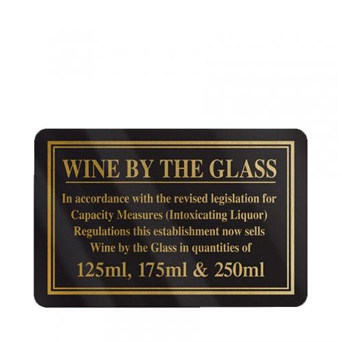 Mileta Rigid S/A Wine By The Glass 125, 175 & 250ml 110x170mm Black/Gold