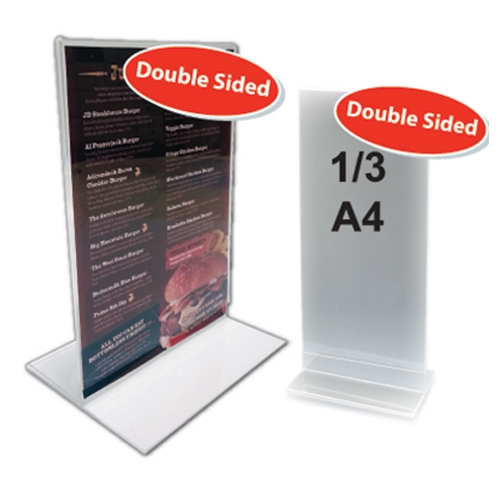 1/3 A4 Portrait Poster Holder 210 x 90mm