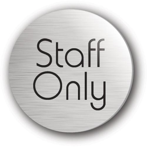 Mileta Staff Only Symbol Rigid Disc 75mm Silver