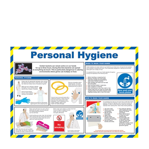 Personal Hygiene Laminated Poster 420 x 590mm Printed
