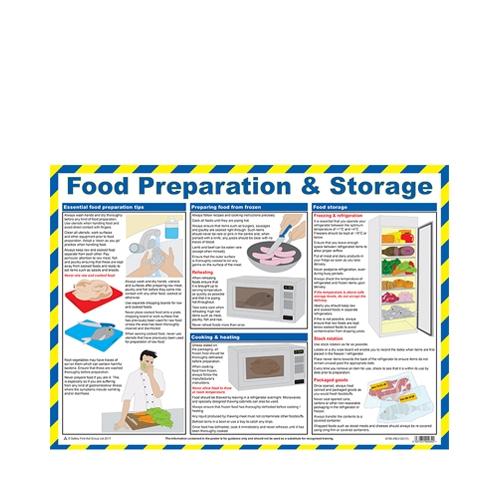 Food Preperation & Storage  Laminated Poster 420 x 590mm Printed
