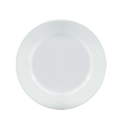 "Utopia Anton Black  Winged Plate 11"" White"