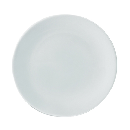 "Utopia Anton Black  Coupe Plate 12"" White"