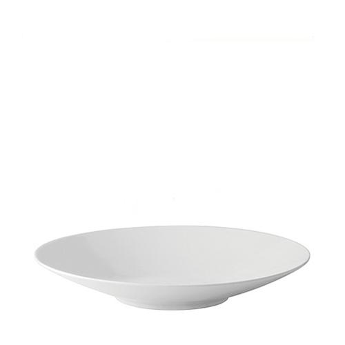 Utopia Anton Black  Deep Coupe Plate 30cm White