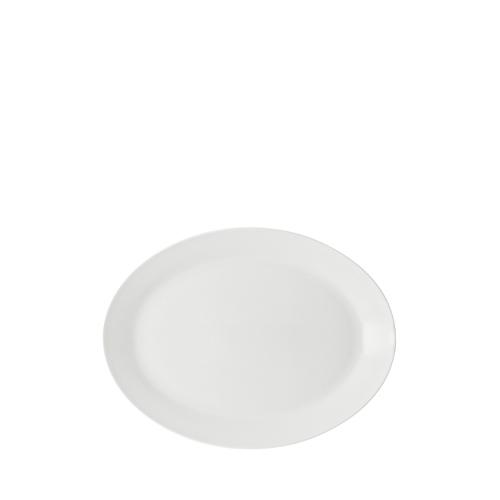 Anton Black Oval Plate
