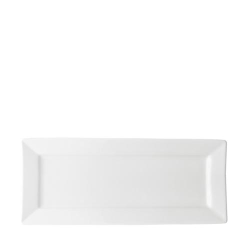 Utopia Anton Black  Rectangular  Plate 36cm x 21cm White