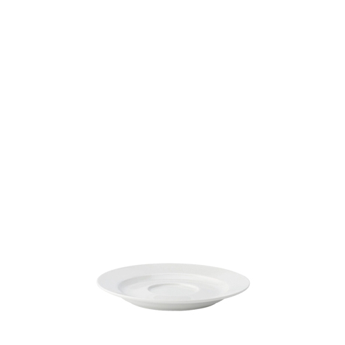 Utopia Anton Black  Traditional Saucer 15cm White
