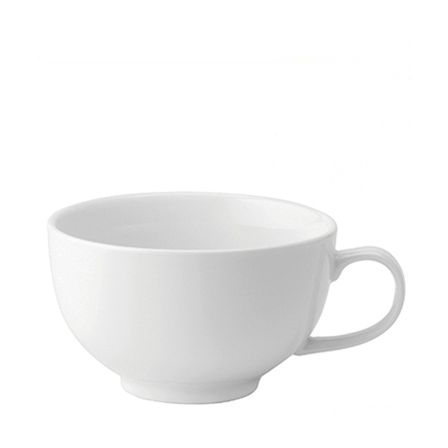 Utopia Anton Black  Bowl Shaped Cup 17oz White