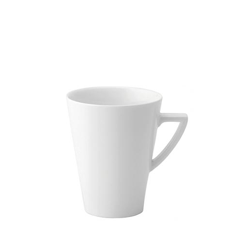 Utopia Anton Black  Latte Mug 12oz White
