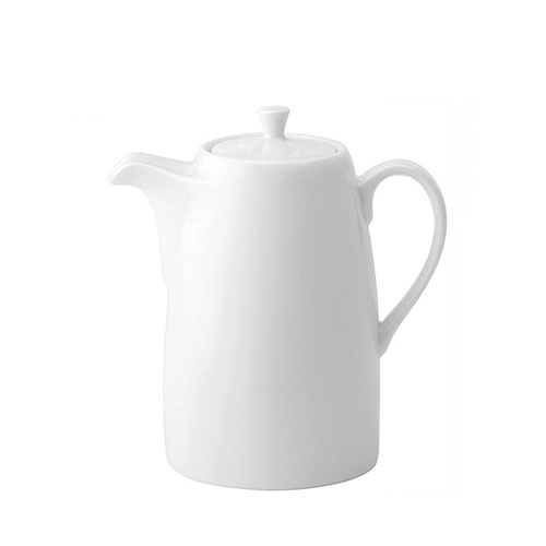 Utopia Anton Black  Coffee Pot 21oz White