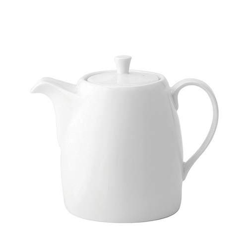 Utopia Anton Black  Tea Pot 28oz White